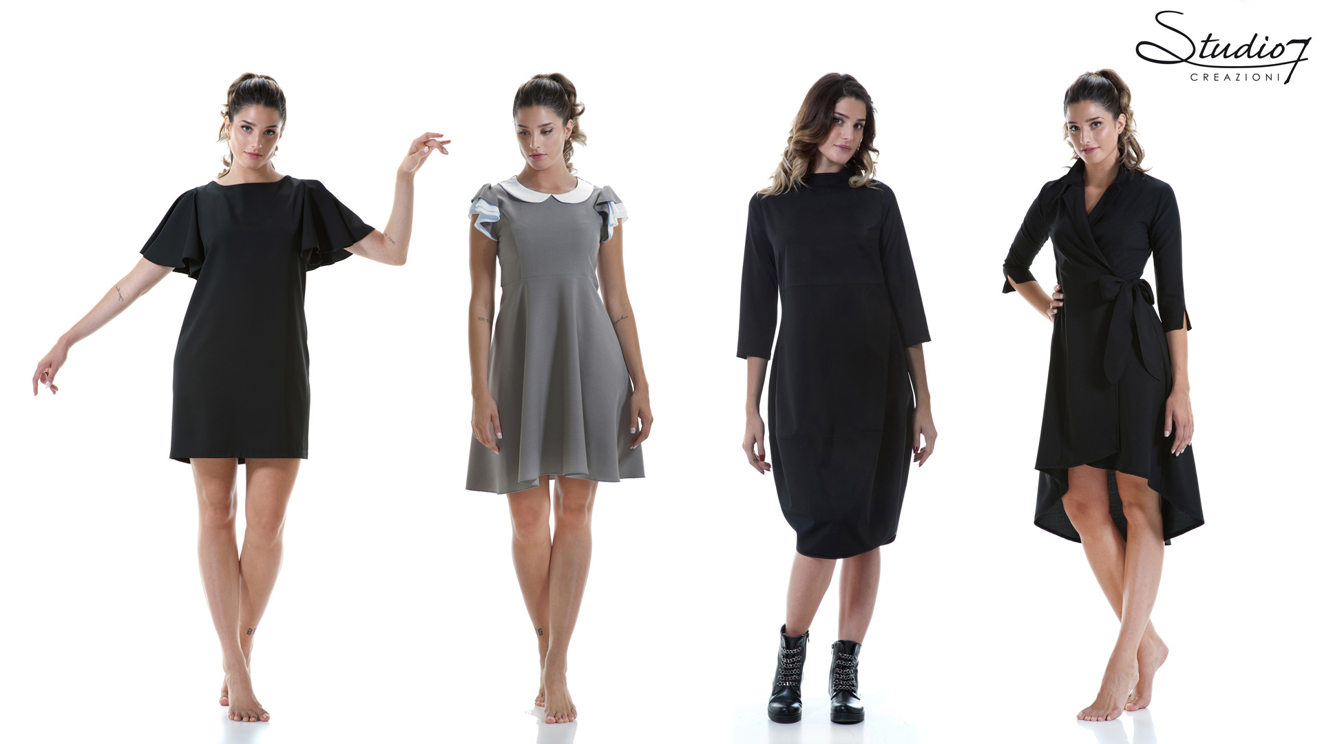 Dresses and mini-dresses for female staff