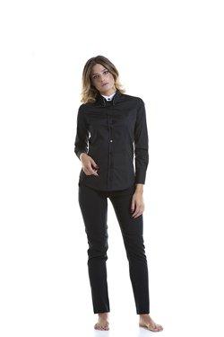 Abbigliamento Professionale Per Parrucchieri e Estetica - Shirt Lisa Doppio Collo Trouser Noemi