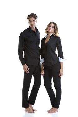 Abbigliamento Professionale Per Parrucchieri e Estetica - Shirt Simone Slim Trouser Alessandro | Shirt Lisa Doppio Collo Trouser Noemi