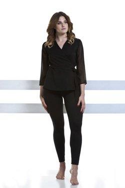 Abbigliamento Professionale Per Parrucchieri e Estetica - Coat Sveva Three-quarter sleeve Voile