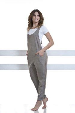 Abbigliamento Professionale Per Parrucchieri e Estetica - Suit Ottavia Scollo Rotondo Gray