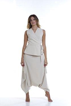 Abbigliamento Professionale Per Parrucchieri e Estetica - Casacca Angelica Corta Pantalone Chimera