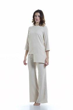 Abbigliamento Professionale Per Parrucchieri e Estetica - Maglia Siria, Pantalone Sabrina Sabbia