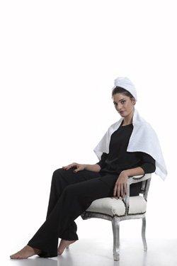 Turbante e Asciugamano Bianco