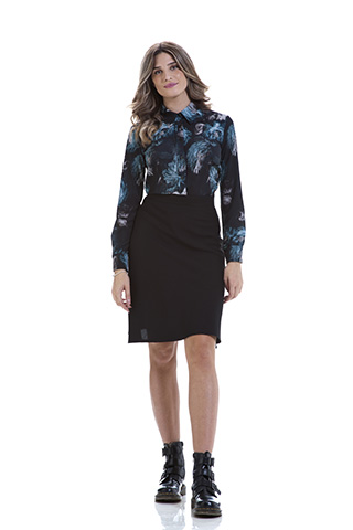 Camicia Marina Peony Azzurra - Studio7Creazioni