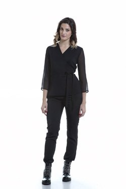 Abbigliamento Professionale Per Parrucchieri e Estetica - Coat Sveva Three-quarter sleeve Trouser Noemi